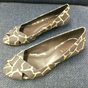 Ralph Lauren open toe wedge sandals slip-on 7.5 B